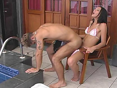 Filthy shemale ready to fulfill guy